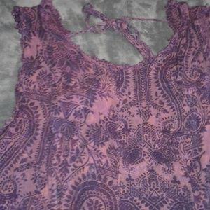 Purple Paisley Score Mini Float Dress